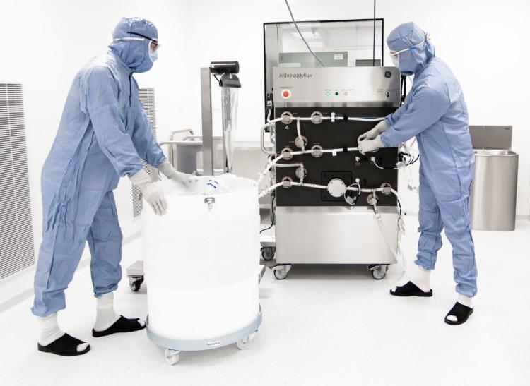 ÄKTA readyflux TFF  system at Biovian's GMP Viral Vector production facility.