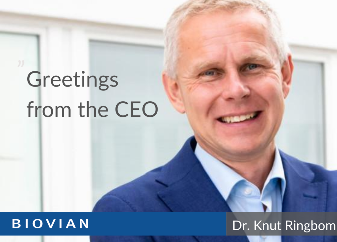 Greetings from the CEO of Biovian