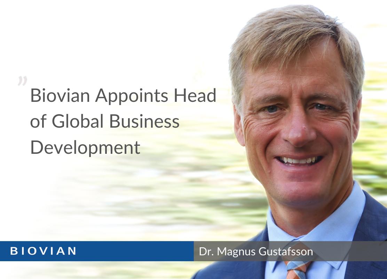 Magnus Gustafsson joins Biovian