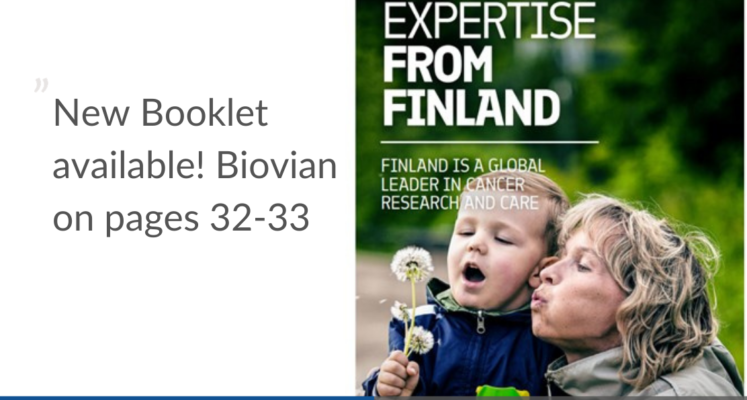 Booklet about cancer expertise in Finland_Biovian CDMO on pages 32-33
