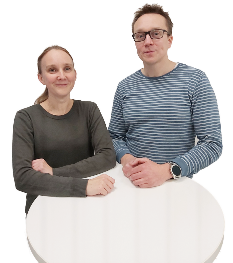 Dr Outi Heikkilä, Senior Scientist and Dr Tuomas Nikula, Project Manager at Biovian