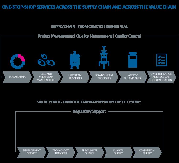 One-Stop-Shop CDMO concept of Biovian