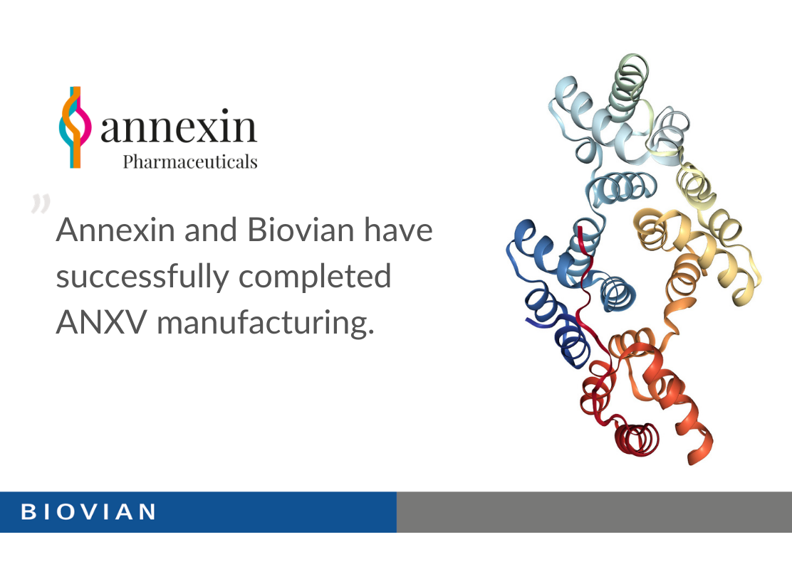 Annexin and Biovian completed ANXV manufacturing