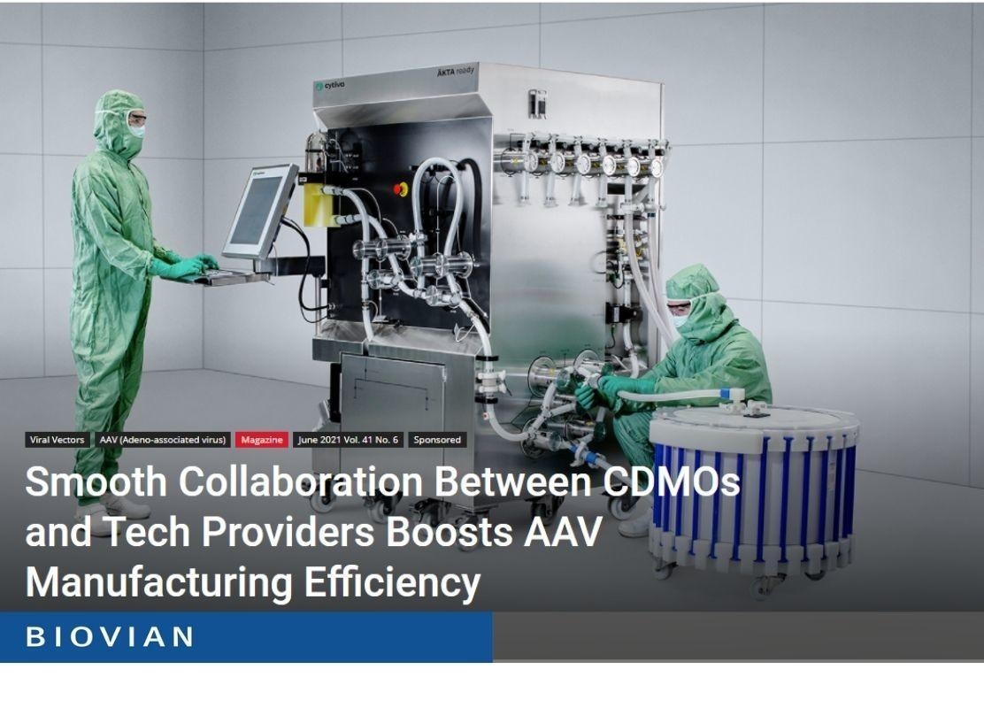 Article in GEN about AAV manufacturing