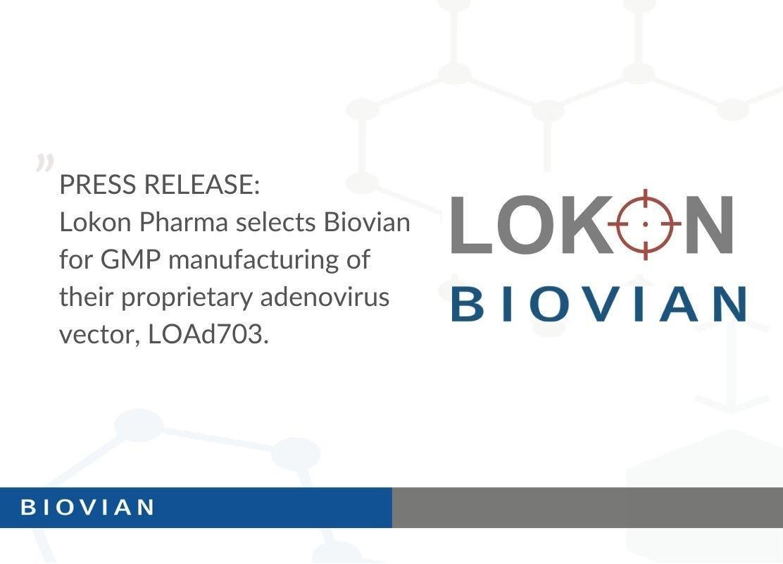Press Release_Lokon Pharma selects Biovian as a CDMO